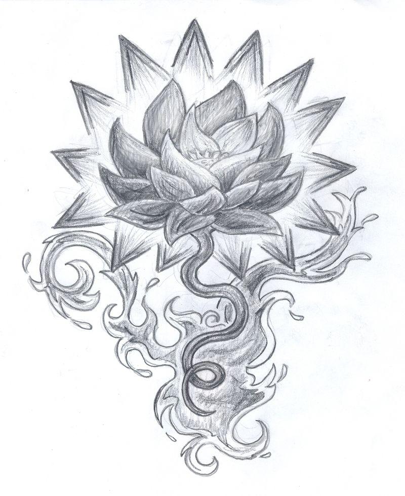 Lotus Tattoo Stencils Google Search Tattoos Piercings Lotus