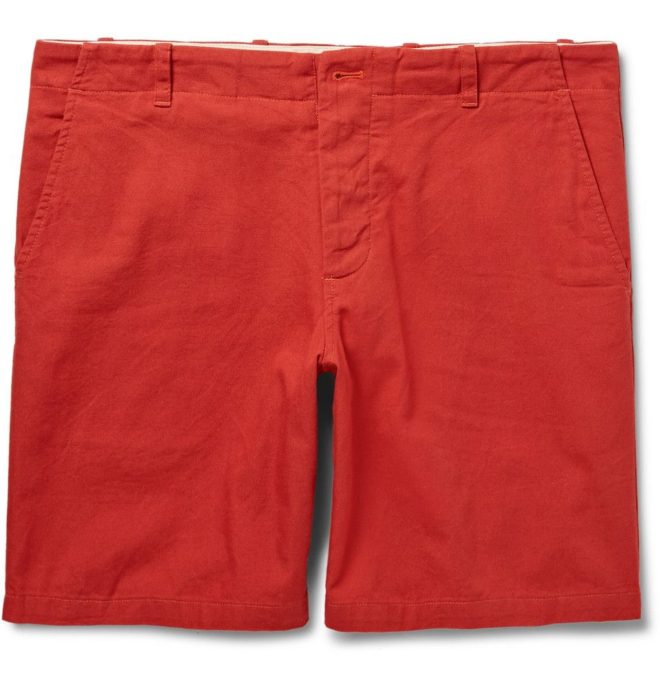 Freemans Sporting Club Red SlimFit CottonCanvas Shorts