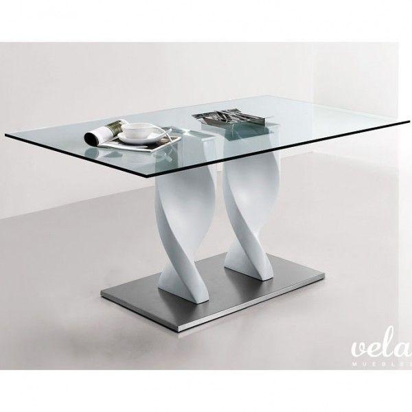 Conjunto de mesa y sillas de comedor. mesa fija con estructura en ...