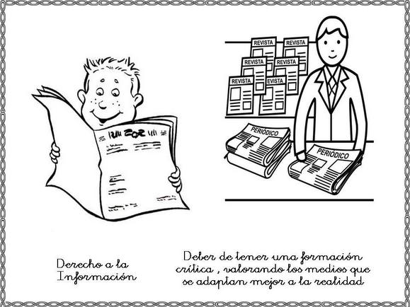 Dibujos Para Colorear De Derechos Y Obligaciones De Los Niños