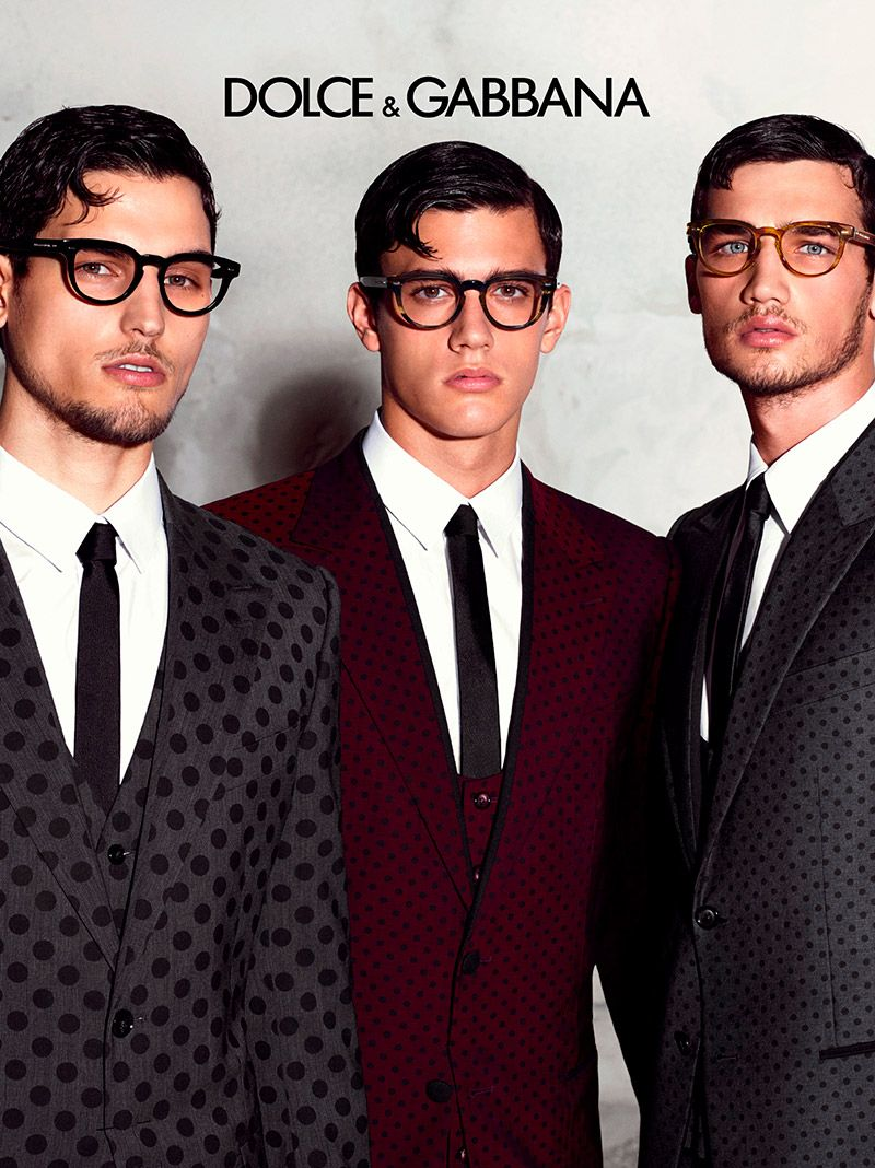 2cabd4823 ... Travis Cannata and Xavier Serrano front the Spring/Summer 2015 eyewear  campaign of Dolce & Gabbana, photographed by designer Domenico Dolce.