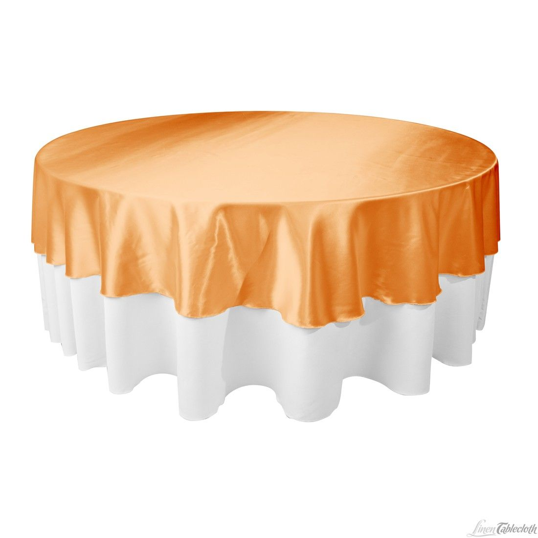 108 In Round Satin Tablecloth Overlay Pumpkin At Linentablecloth Com Table Cloth Round Tablecloth Elegant Table