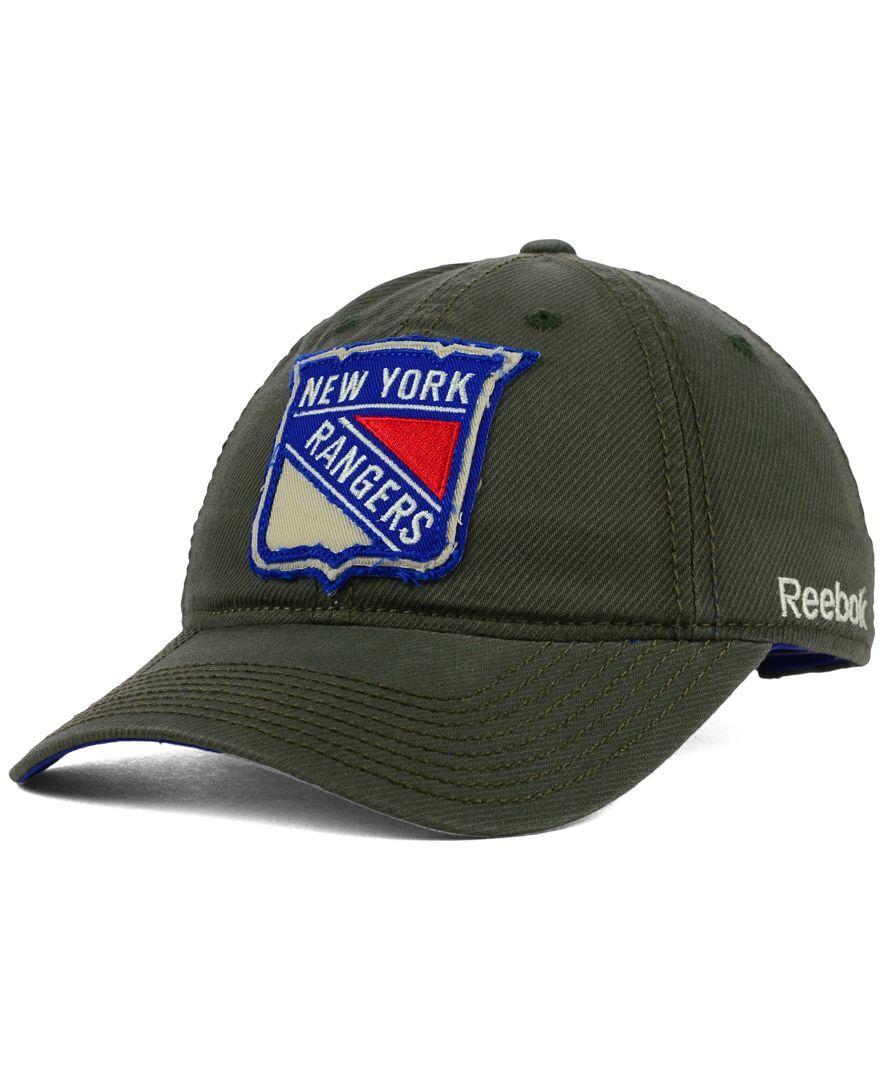 Reebok New York Rangers Textured Slouch Cap  4ccb12a0dac5