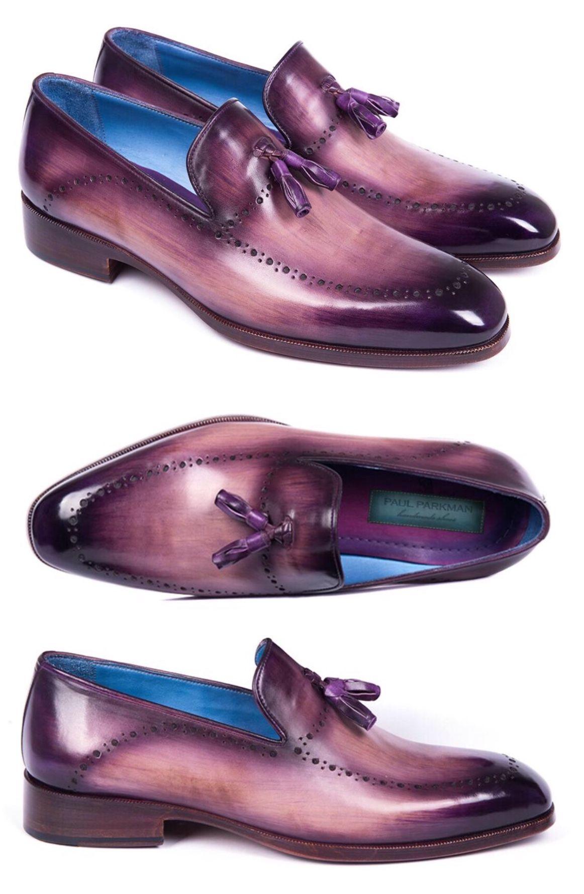 d69400b2f85 Paul Parkman Men s Tassel Loafer Purple (ID 66T80-PRP) in 2019 ...