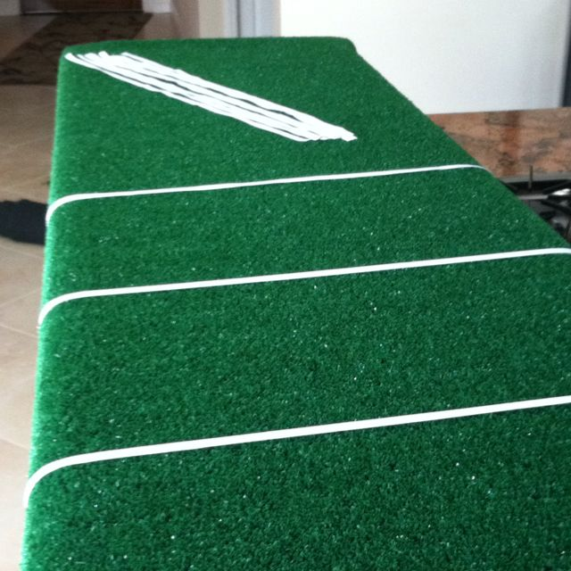 Astro Turf From Home Depot Ribbon From Michael S Football Field Table Top Table Top Decor Astro Turf Table Top