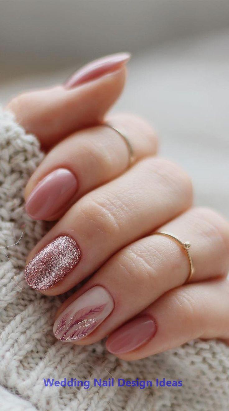 35 Simple Ideas for Wedding Nails Design 1 #weddingnails #nailartideas