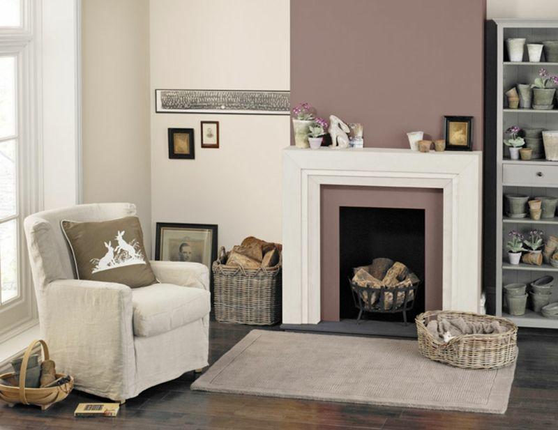 Wohnzimmer in Braun und Beige streichen- Wandgestaltung Ideen - wohnzimmer braun beige grun