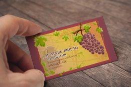 Carte De Visite Realisee Pour Un Viticulteur