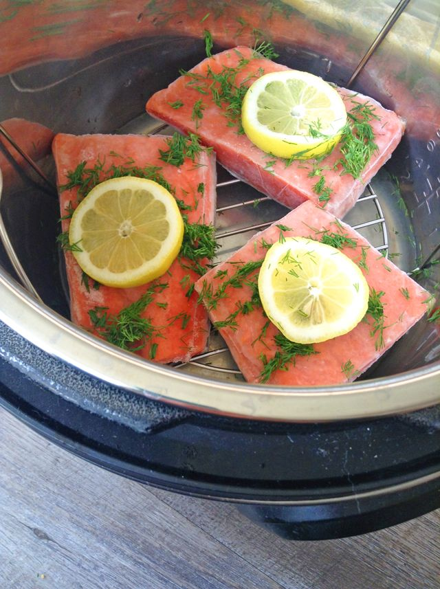 10 Minute Instant Pot Salmon From Frozen Recipe Instant Pot Fish Recipe Instant Pot Dinner Recipes Instant Pot Recipes