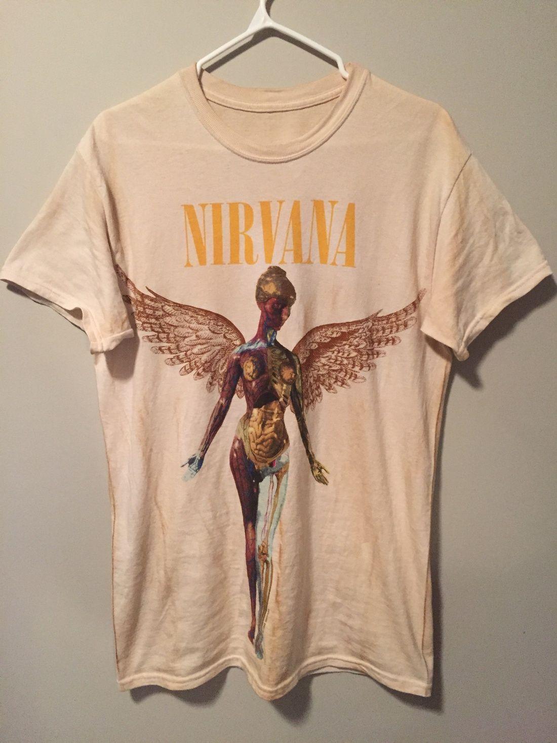 a619855b Nirvana Vintage Band Tee Rock Tees, Rock T Shirts, Mens Tee Shirts, Grunge