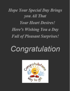 Card Templates For Word Delectable Congratulation Card Template  Word Excel & Pdf Templates .