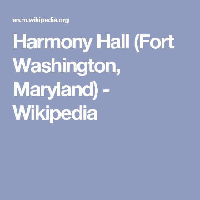 Harmony Hall Fort Washington Maryland Wikipedia Family - Maryland wikipedia
