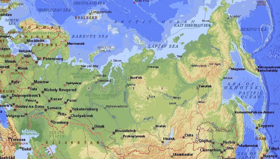 La Cartina Della Russia.Mappa Della Russia Geografia Economica Mappa Russia