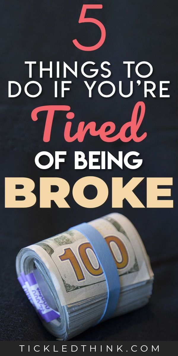 5 Easy Ways to Stop Being Broke Right Now - Tickled Think