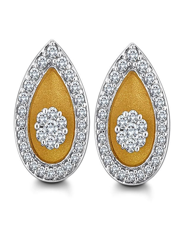 Dazzling Diamond Earrings Light up the day or night with these cute sparkles. Crafted with the 18 kt gold and diamonds in the shape of flower at the centre, these stud earrings are perfect accompaniment to your attires...... - See more at: http://diamonds4you.com/item/21308258.aspx#sthash.IOLC5AJx.dpuf