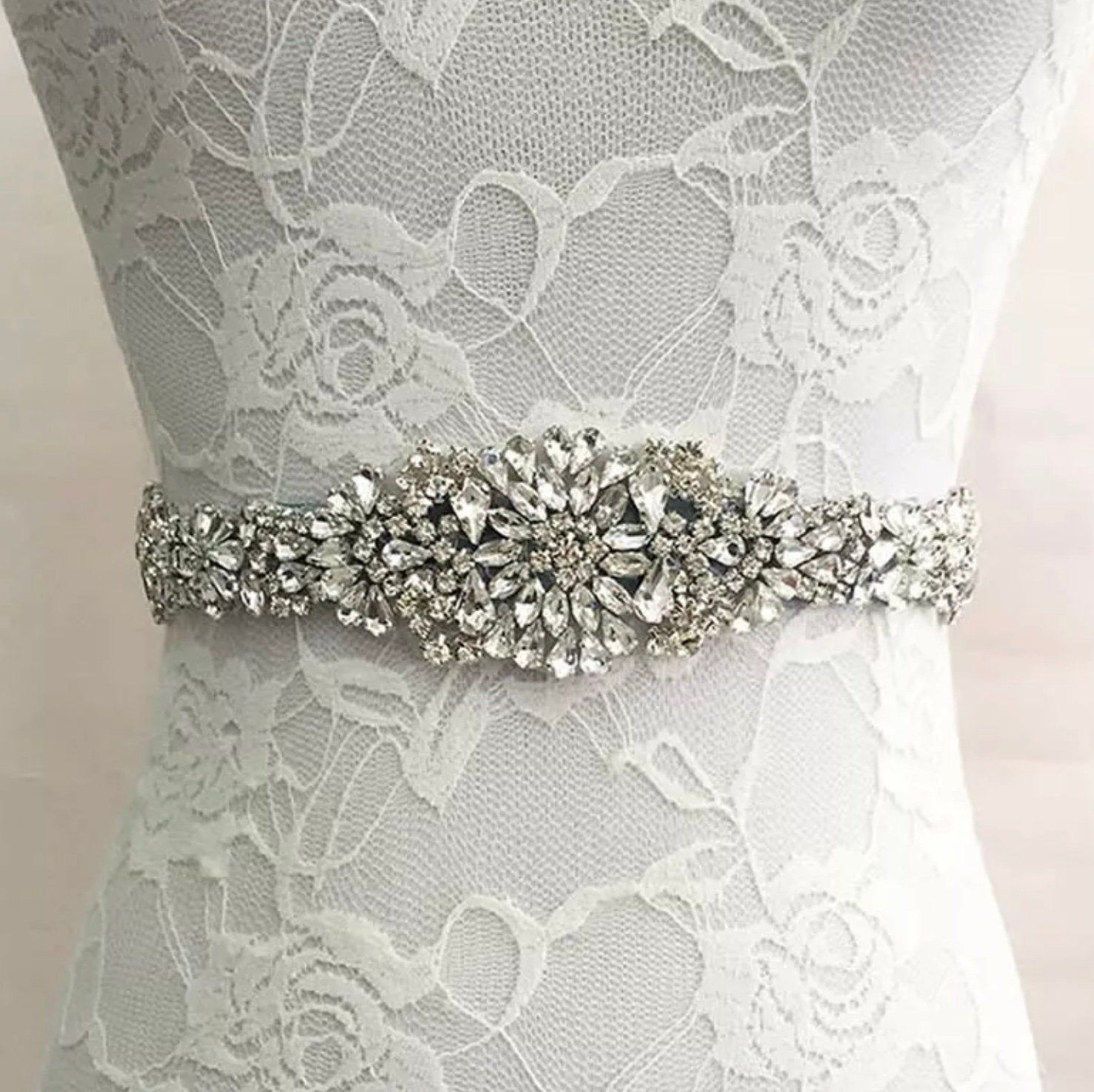 Beautiplex crystal wedding sash etsy wedding dress