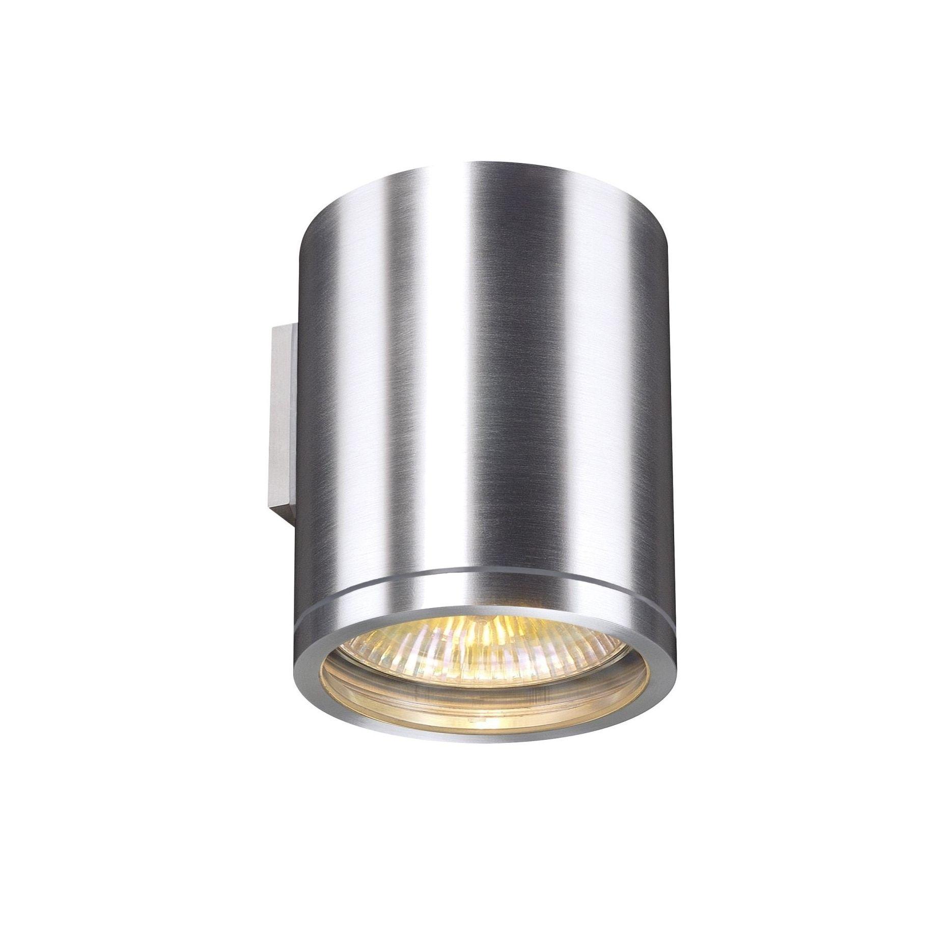 Slv lighting rox light brushed aluminum wall lamp brushed