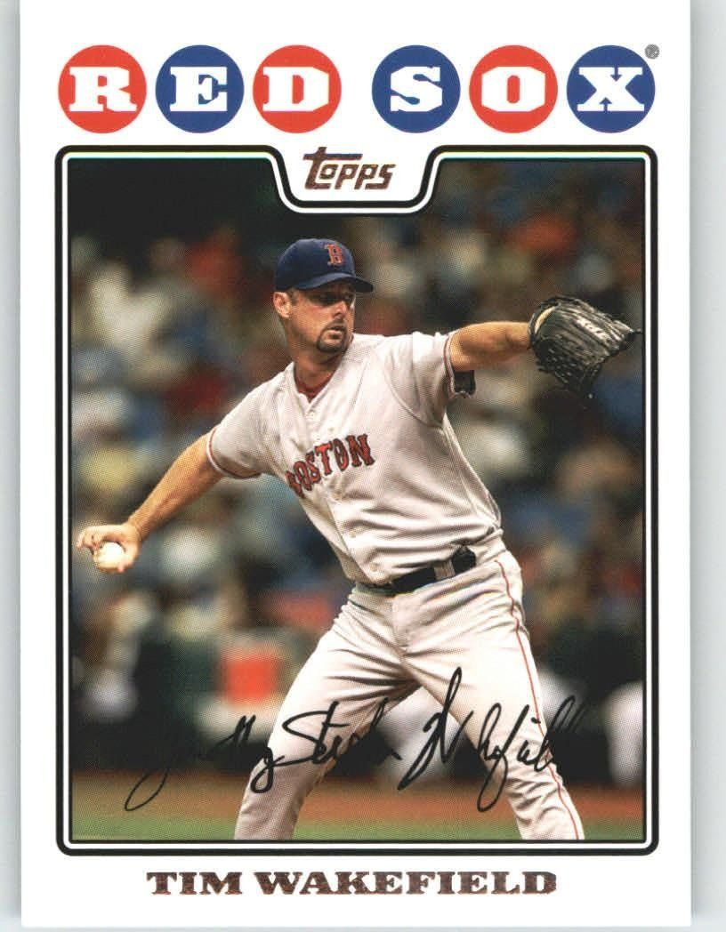 2008 Topps 295 Tim Wakefield Boston Red Sox 0 Baseball