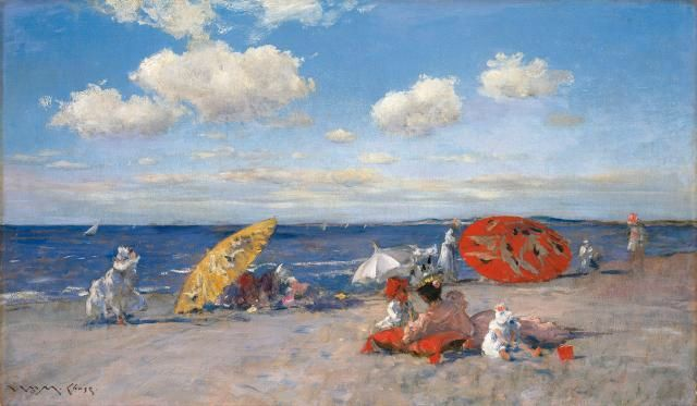 William Merritt Chase (1849–1916), At the Seaside, c.1892. The Metropolitan Museum of Art, Bequest of Miss Adelaide Milton de Groot (1876–1967), 1967. © The Metropolitan Museum of Art.