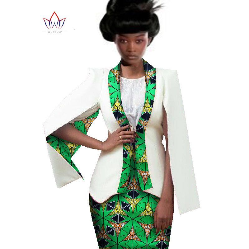 African Women Clothing Two Piece Set Women Dress Suit Crop Top and ...