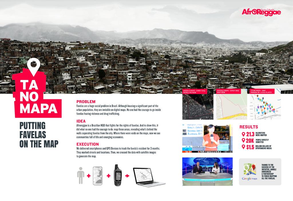 AfroReggae + Ta no mapa! - JWT Brazil Advertising Work