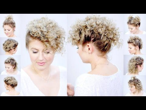 10 Easy Curly Hairstyles For Short Hair Milabu Youtube Easy Hairstyles Short Hair Hacks Short Hair Styles Easy