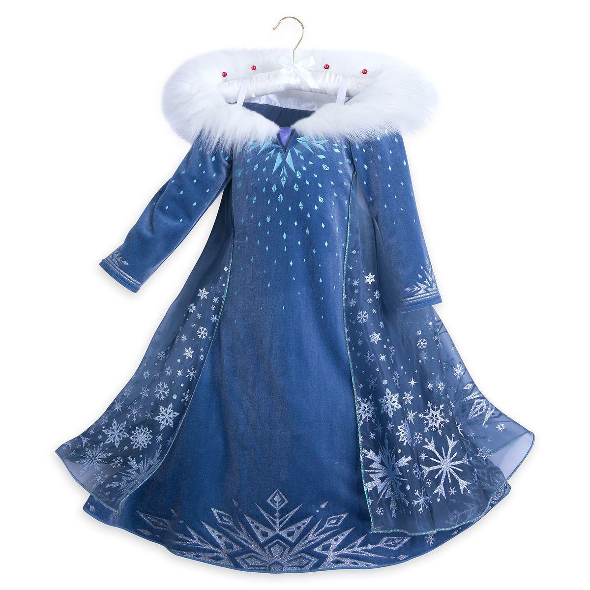 Disney Store Frozen Fancy Dress Set for Girls Anna Elsa Purple Sparkle Sequins