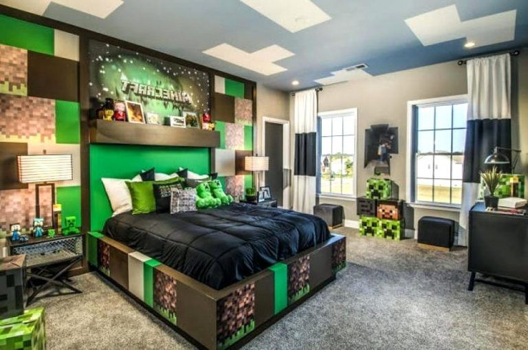 Coolest minecraft bedroom in home decoration planner with also rh pinterest
