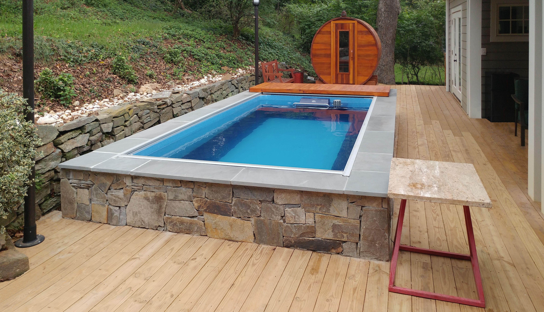Original Endless Pool With Adjacent Sauna Endless Pool Swimming Pool Pictures Small Swimming Pools