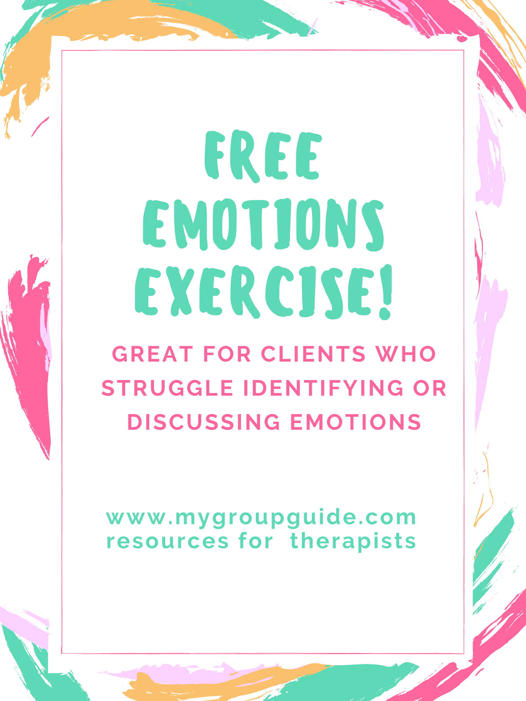 Free Emotions Exercise (With images) Emotional awareness