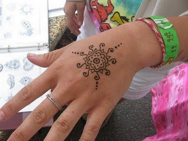 Simple Henna | Simple Mehndi Designs For Hands, Feet And Fingers 005