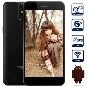 Timmy E88 Android 4.4 3G phablet 5.5 pulgadas HD de pantalla MTK6582 Quad Core 1.3GHz 1GB RAM 8GB ROM WiFi GPS NFC Off Gestos de pantalla Gesto Sensing cámaras duales para Vender - La Tienda En Online IGOGO.ES