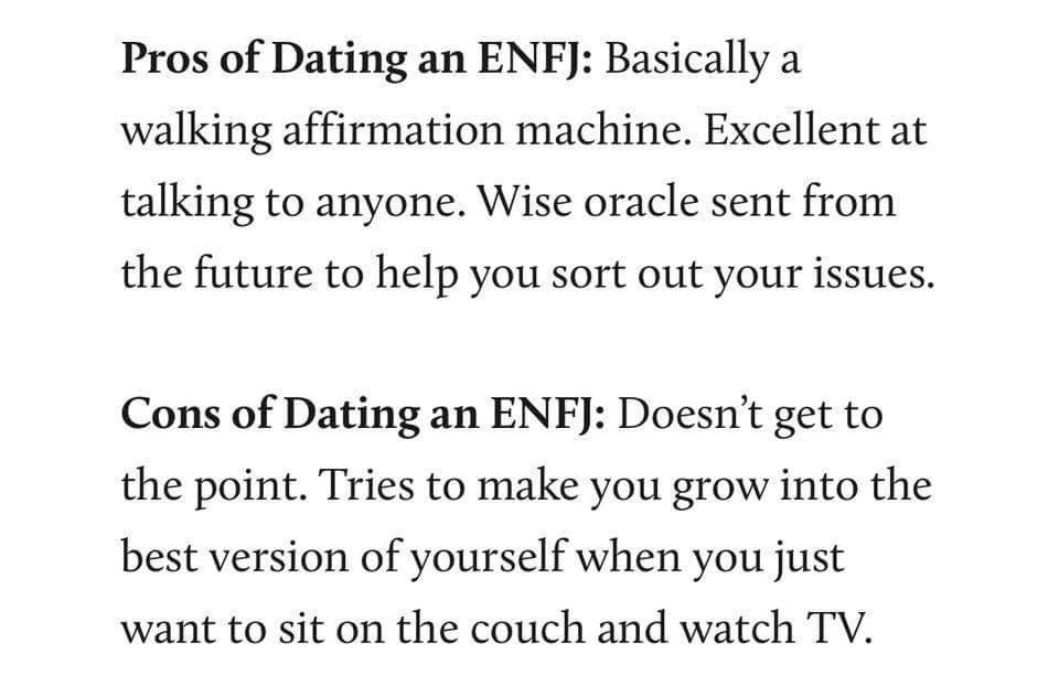 Enfj dating how to start a conversation on a online dating site
