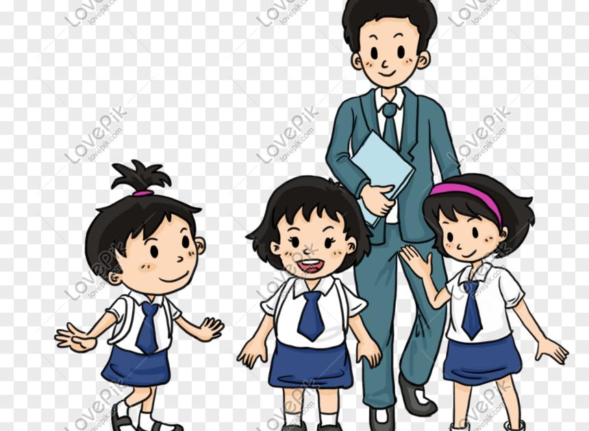 Gambar Animasi Guru Orang Tua Dan Siswa