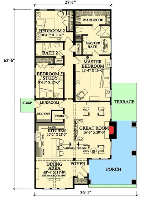 Plan 32400wp Delightful Open Floor Plan Open Floor House Plans Floor Plans Bedroom Floor Plans