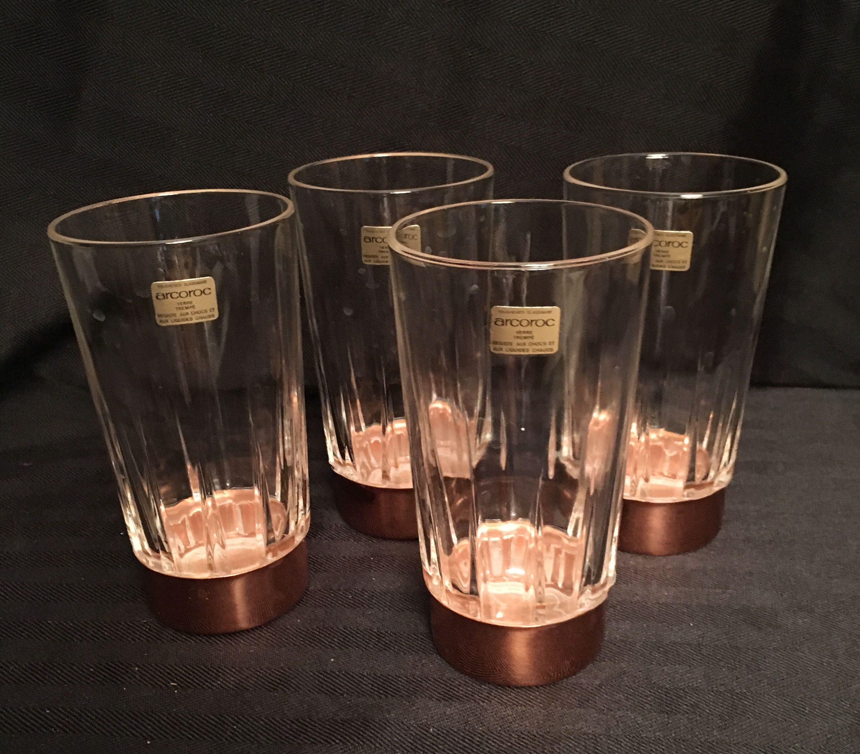 Coppercraft Guild Highball Glasses From 70's
