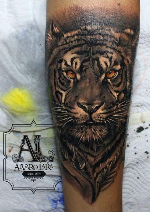 Outstanding Tiger Tattoo Inkstylemag Tiger Tattoo Tiger Tattoo Sleeve Leg Tattoos