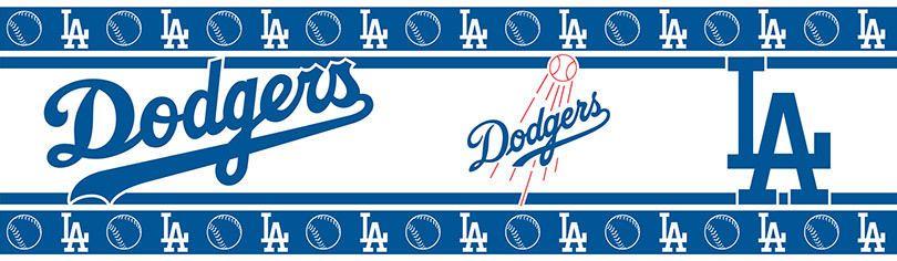 Los Angeles Dodgers MLB Team Color Wall Border 3 Rolls