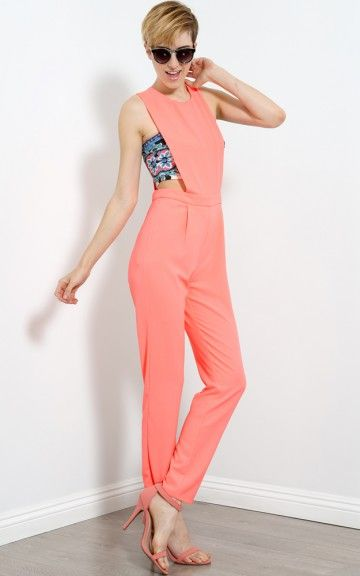 cb280c5714c7 Neon Pleated Overall Jumpsuit