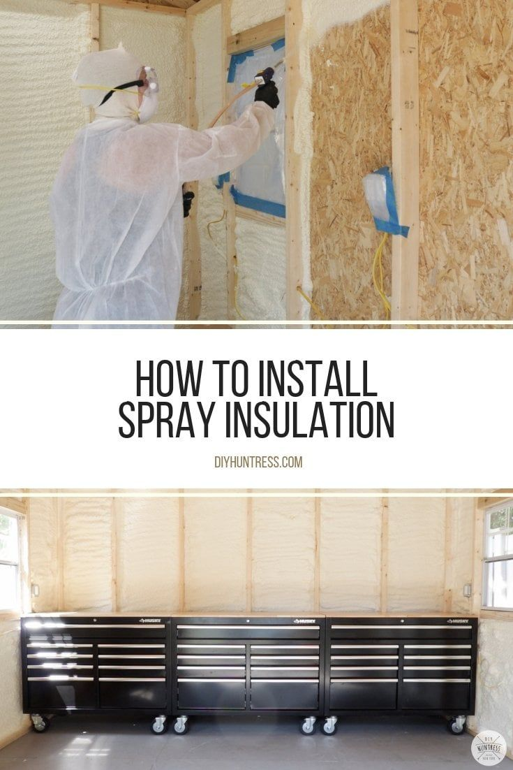 How To Spray Insulate A Shed Insulating a shed, Spray
