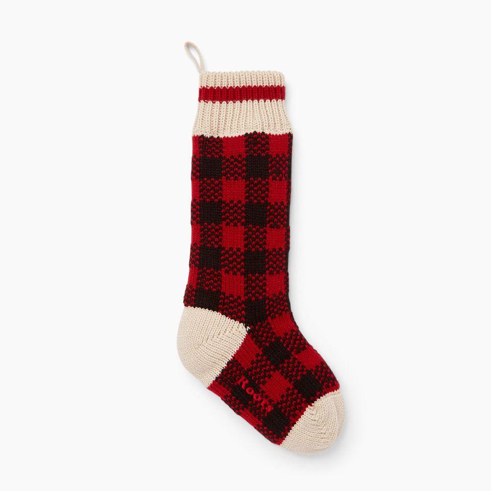 A seasonal favourite our buffalo check stocking features