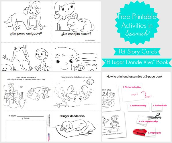 free story cards printable kids book in spanish - Printable Books For Kids