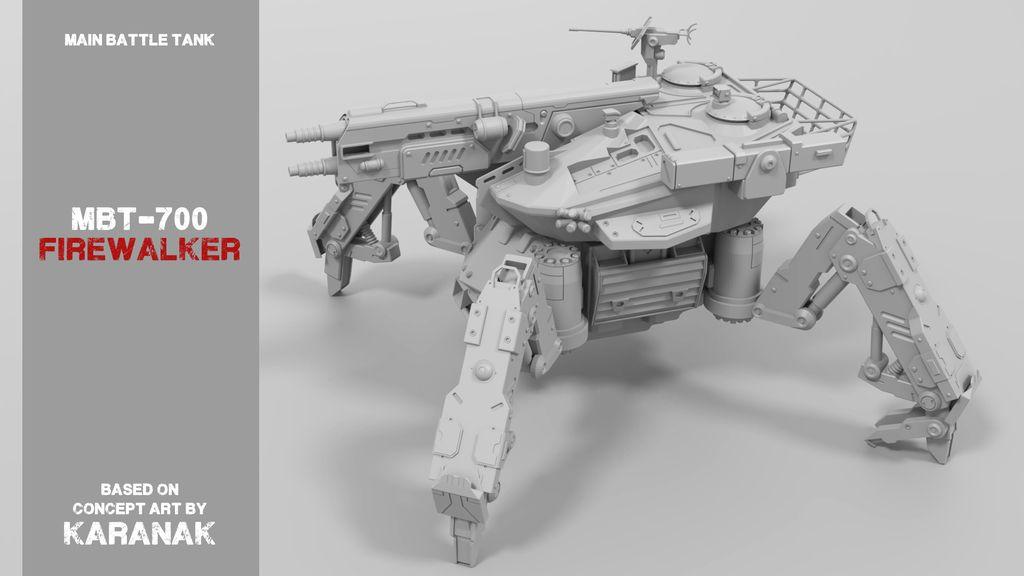 "MBT-700+""Firewalker""+Spider+Tank+Mech+by+filipturz."