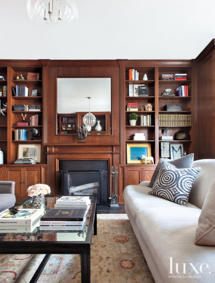 Traditional Wood Paneled Library Luxe Libraries