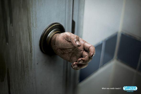 Sanzer Hand Gel Doorknob Avec Images Publicite Imprimee