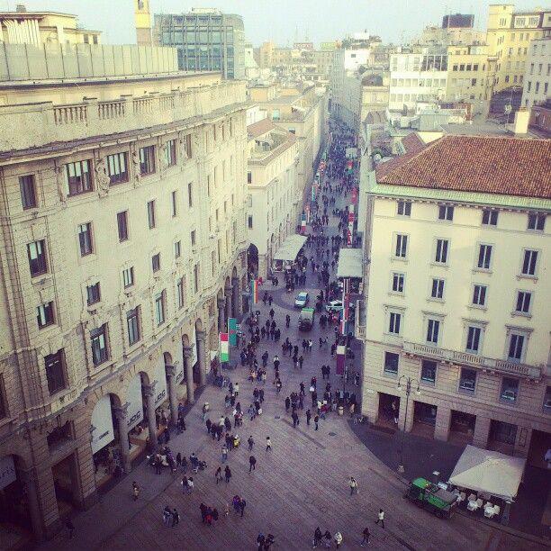 Corso Vittorio Emanuele II in Milano, Lombardia