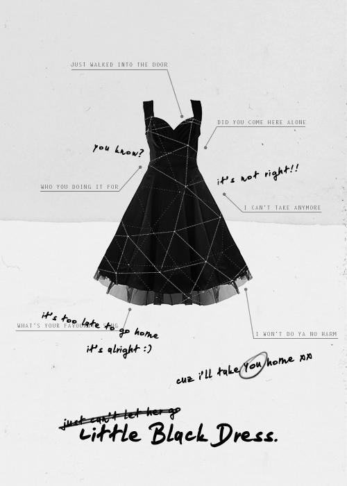In a black dress lyrics 88