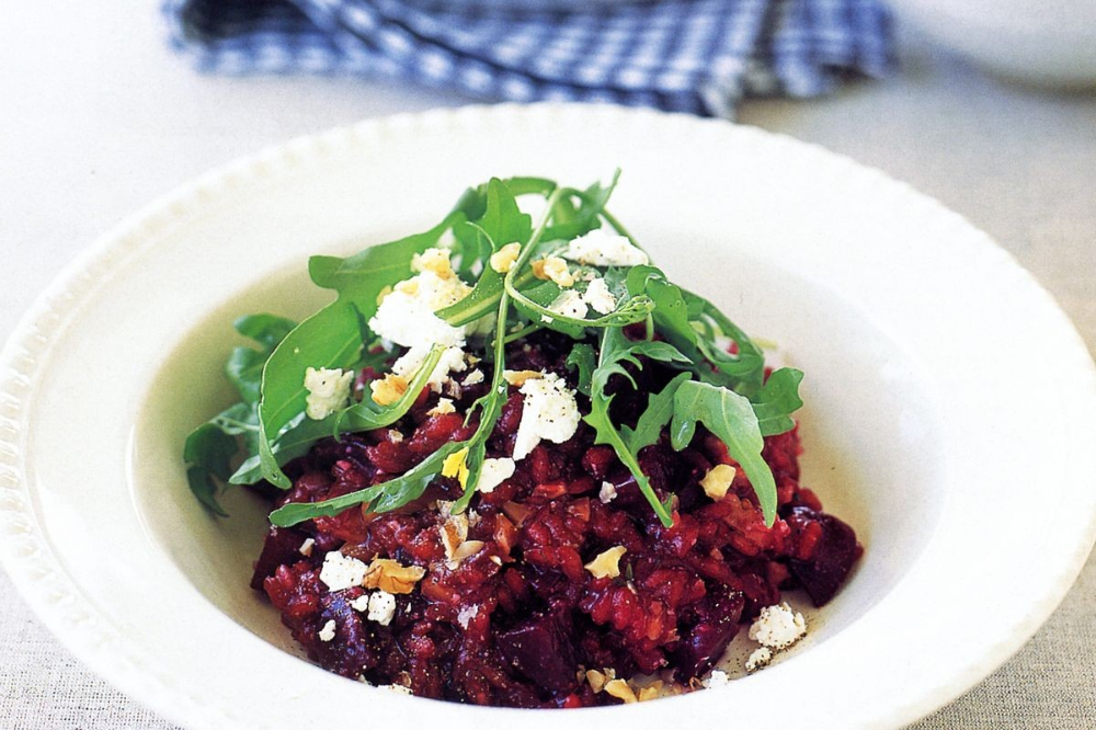 We bet this beetroot risotto served with crumbled goats cheese and crunchy walnuts wont just be the choice of vegetarians Rice is one of the main nutrients consumed all o...