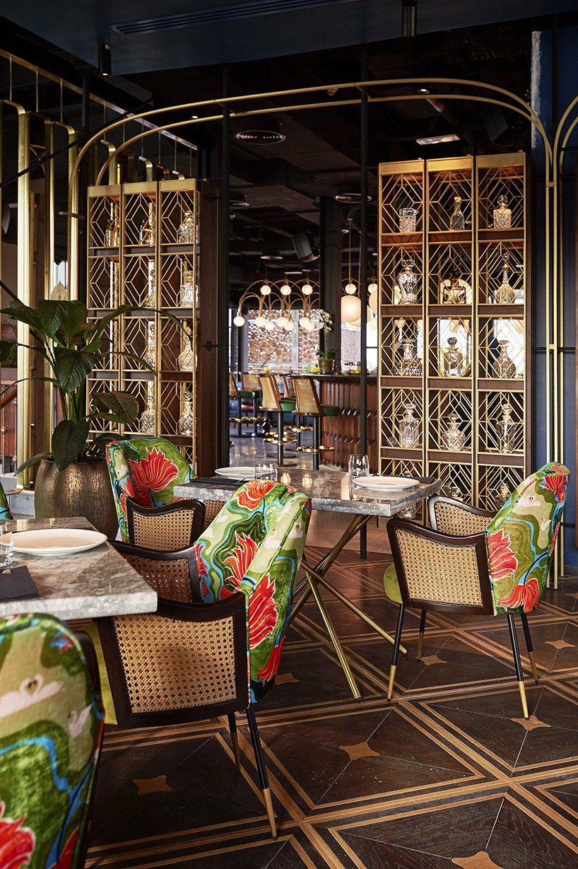 studio lotus weaves cuisine with indian design in dubai restaurant