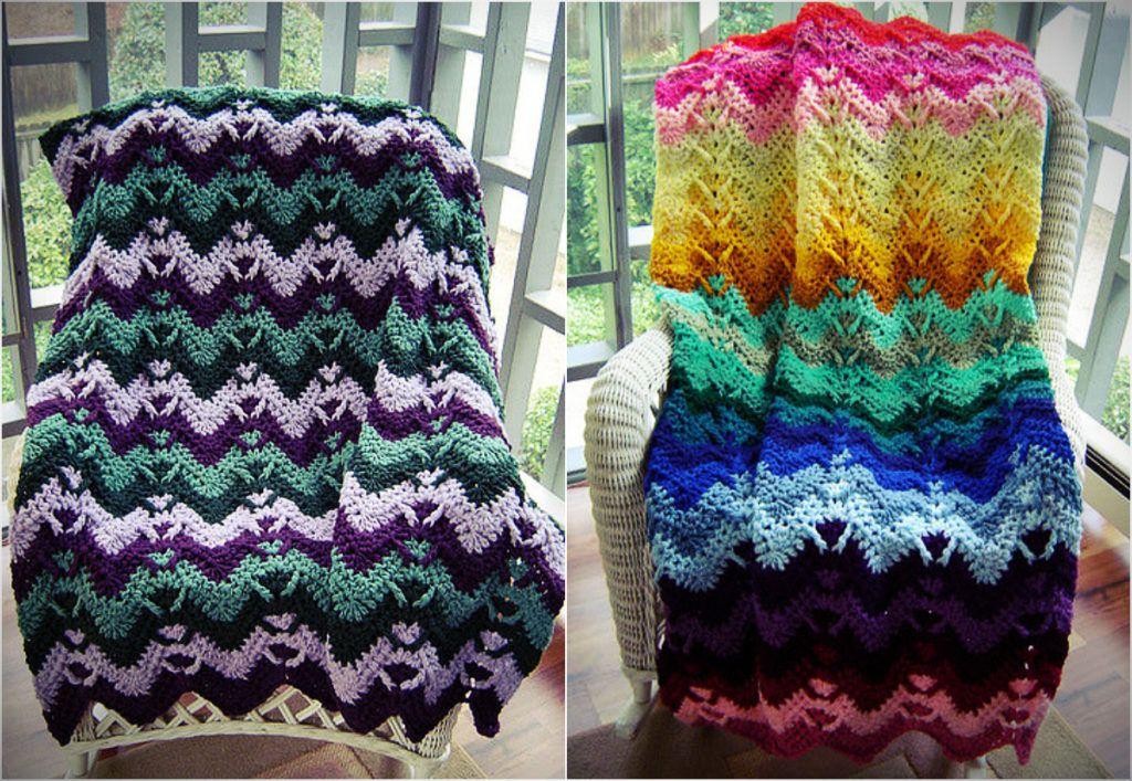 Stunning Mountain Mist Crochet Afghan Free Pattern Crocheted